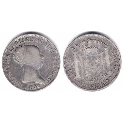 Isabel II. 1852. 10 Reales (MBC) (Plata) Ceca de Madrid