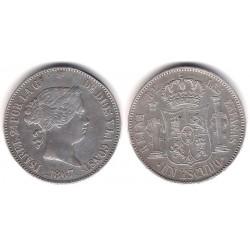 Isabel II. 1867. 1 Escudo (EBC) (Plata) Ceca de Madrid