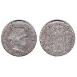 Isabel II. 1868*(18-68). 1 Ecudo (BC+/MBC-) Ceca de Madrid