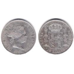 Isabel II. 1863. 10 Reales (MBC-) (Plata) Ceca de Madrid