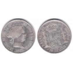 Isabel II. 1863. 10 Reales (BC) (Plata) Ceca de Madrid