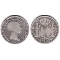 Isabel II. 1854. 10 Reales (BC) (Plata) Ceca de Sevilla