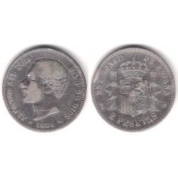Alfonso XIII. 1881*(-----). 2 Pesetas (BC) (Plata) Ceca de Madrid MS-M