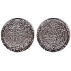 (321) Egipto. 1917. 20 Piastres (EBC+) (Plata)