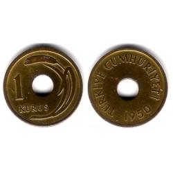 (881) Turquía. 1950. 1 Kurus (MBC)