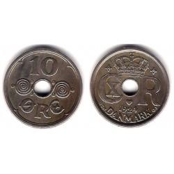 (822.1) Dinamarca. 1924. 10 Ore (BC+)