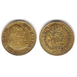 Carlos III. 1778. ½ Escudo (MBC-) (Oro) Ceca de Madrid PJ