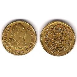 Carlos III. 1784. ½ Escudo (MBC-) (Oro) Ceca de Madrid JD