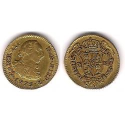 Carlos III. 1775. ½ Escudo (MBC-) (Oro) Ceca de Madrid PJ