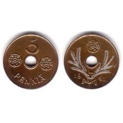 (64) Finlandia. 1941. 5 Pennia (MBC)