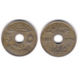 (317) Egipto. 1917. 5 Milliemes (BC+)