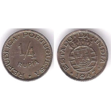 (25) India Portuguesa. 1947. ¼ Rupia (MBC)