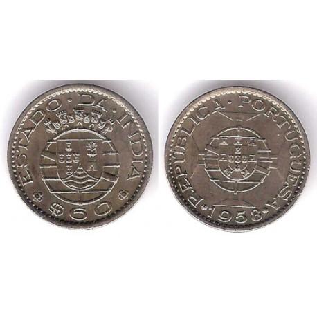 (32) India Portuguesa. 1958. 60 Centavos (MBC)