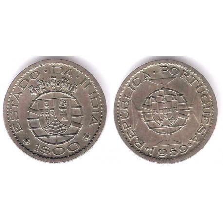 (33) India Portuguesa. 1959. 1 Escudo (EBC)