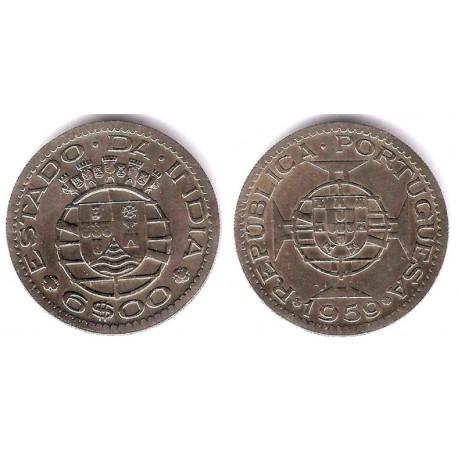 (35) India Portuguesa. 1959. 6 Escudos (EBC)