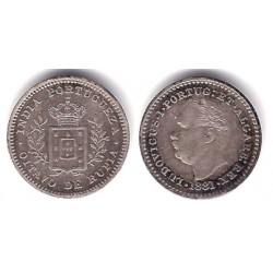 (307) India Portuguesa. 1881. 1/8 Rupia (MBC) (Plata)