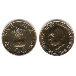 (42.1) India. 1969. 20 Paise (Proof)