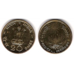 (43.1) India. 1970. 20 Paise (Proof)