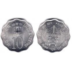 (30) India. 1976. 10 Paise (SC)