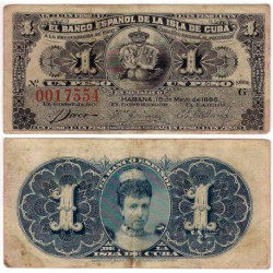Cuba Colonial. 1896. 1 Peso (MBC-)