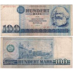 (31a) Alemania Democrática. 1975. 100 Mark (BC) Agujero