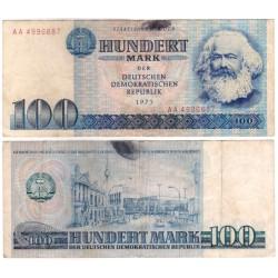 (31a) Alemania Democrática. 1975. 100 Mark (MBC-) Mancha