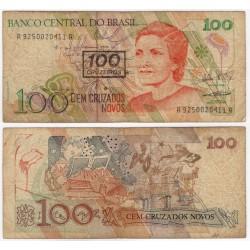(224b) Brasil. 1990. 100 Cruzeiros (BC)