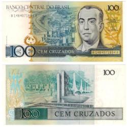 (211b) Brasil. 1986-88. 100 Cruzados (SC-)