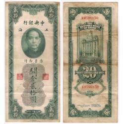 (328) China. 1930. 20 Custom Gold Units (BC-/BC)