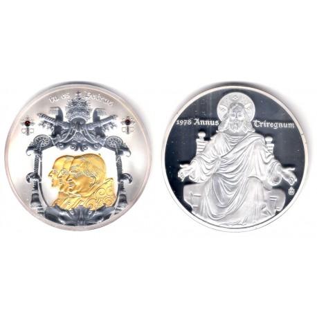 Medalla Año de los Tres Papas (Cobre, con baño de plata) 70mm