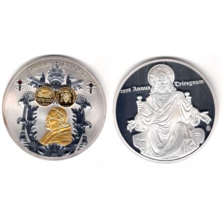 Medalla Juan Pablo II (Cobre, bañado en Plata) 70mm