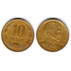 (228.2) Chile. 1992. 10 Pesos (BC+)