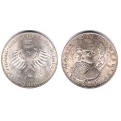 (123.1) Alemania. 1968(D). 5 Mark (EBC+) (Plata)