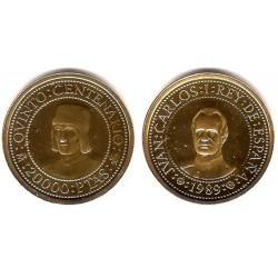 España. 1989. 20000 Pesetas (Proof) (Oro) 6,75 gr. de .999
