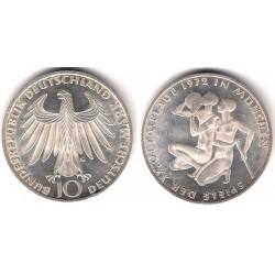 (132) Alemania. 1972(G). 10 Mark (EBC) (Plata)
