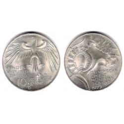 (133) Alemania. 1972(D). 10 Mark (SC) (Plata)