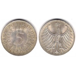 (112.1) Alemania. 1970(D). 5 Mark (MBC+) (Plata)