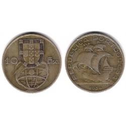 (586) Portugal. 1954. 10 Escudos (MBC) (Plata)