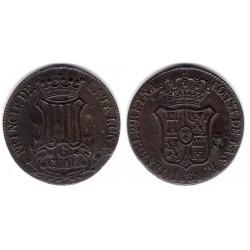 Isabel II. 1838. 6 Cuartos (MBC+) Ceca de Cataluña
