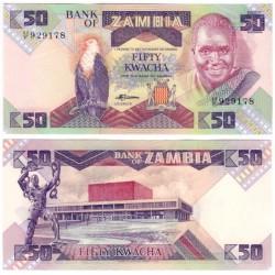 (28) Zambia. 1986-88. 50 Kwacha (SC)
