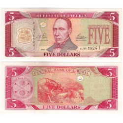 (26) Liberia. 2003. 5 Dollars (SC)