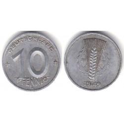 (3) Alemania Democrática. 1949(A). 10 Pfennig (MBC)
