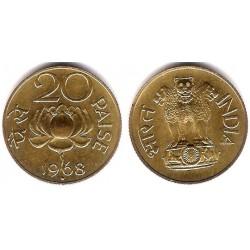 (41) India. 1968. 20 Paise (EBC+)