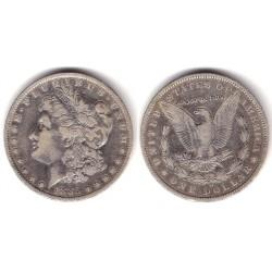 (110) Estados Unidos de América. 1885. 1 Dollar (MBC-) (Plata)