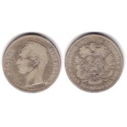 (Y24.2) Venezuela. 1936. 5 Bolivares (BC+) (Plata)