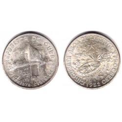 (25) Cuba. 1952. 40 Centavos (SC) (Plata)