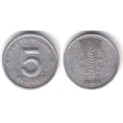 (2) Alemania Democrática. 1949(A). 5 Pfennig (BC)