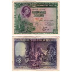 España. 1928. 500 Pesetas (MBC) Sin Serie