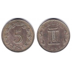 (10) Malta. 1972. 5 Cents (MBC)