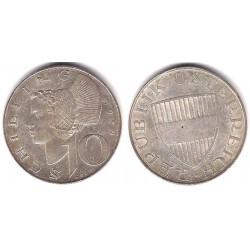 (2882) Austria. 1957. 10 Shilling (MBC) (Plata)